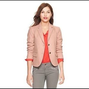 Gap The Academy Blazer Blush Pink With Elbow Patches Size 10